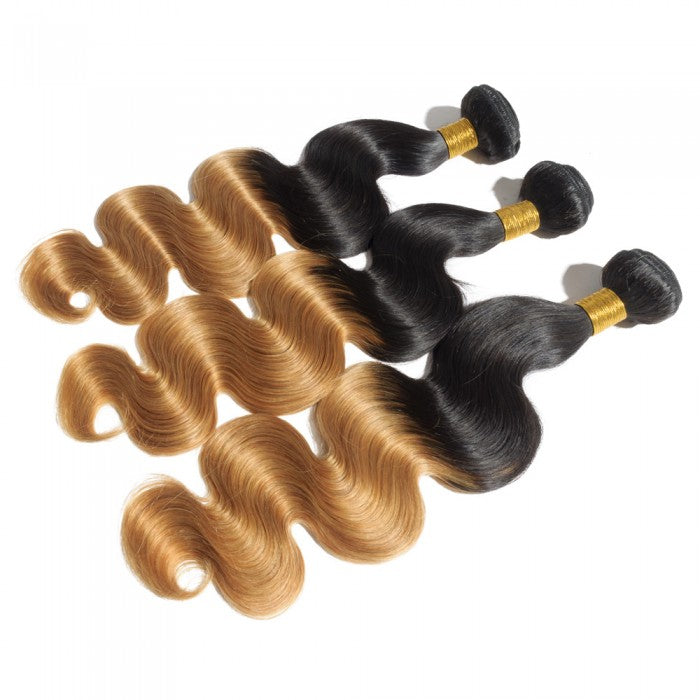 Body wave ombre human hair (16 to 26 inches) - What's Your Chic