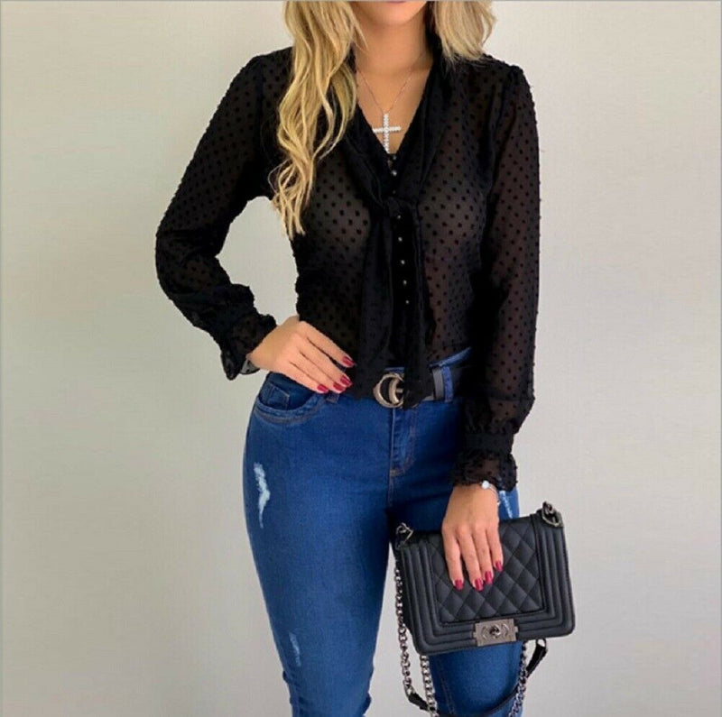 Rip tide chiffon blouse - What's Your Chic