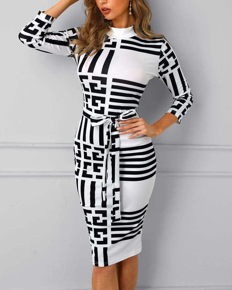 'East Coast Vice' Color-block Insert Bodycon Dress - What's Your Chic
