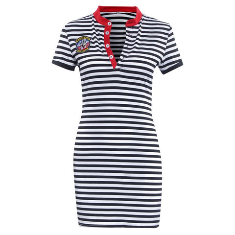 Casual striped 'Weekend' dress - What's Your Chic