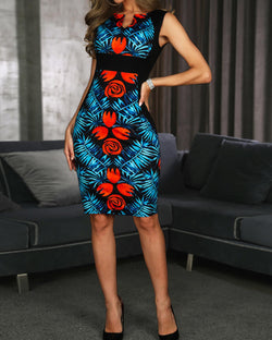 V-Cut Midi Floral - What's Your Chic