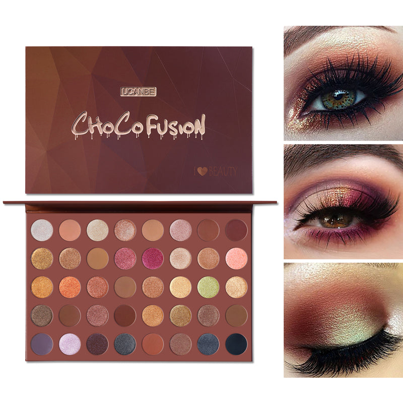 CHOCOFUSION 40 Bronzer Artist Eye Shadow Palette - What's Your Chic