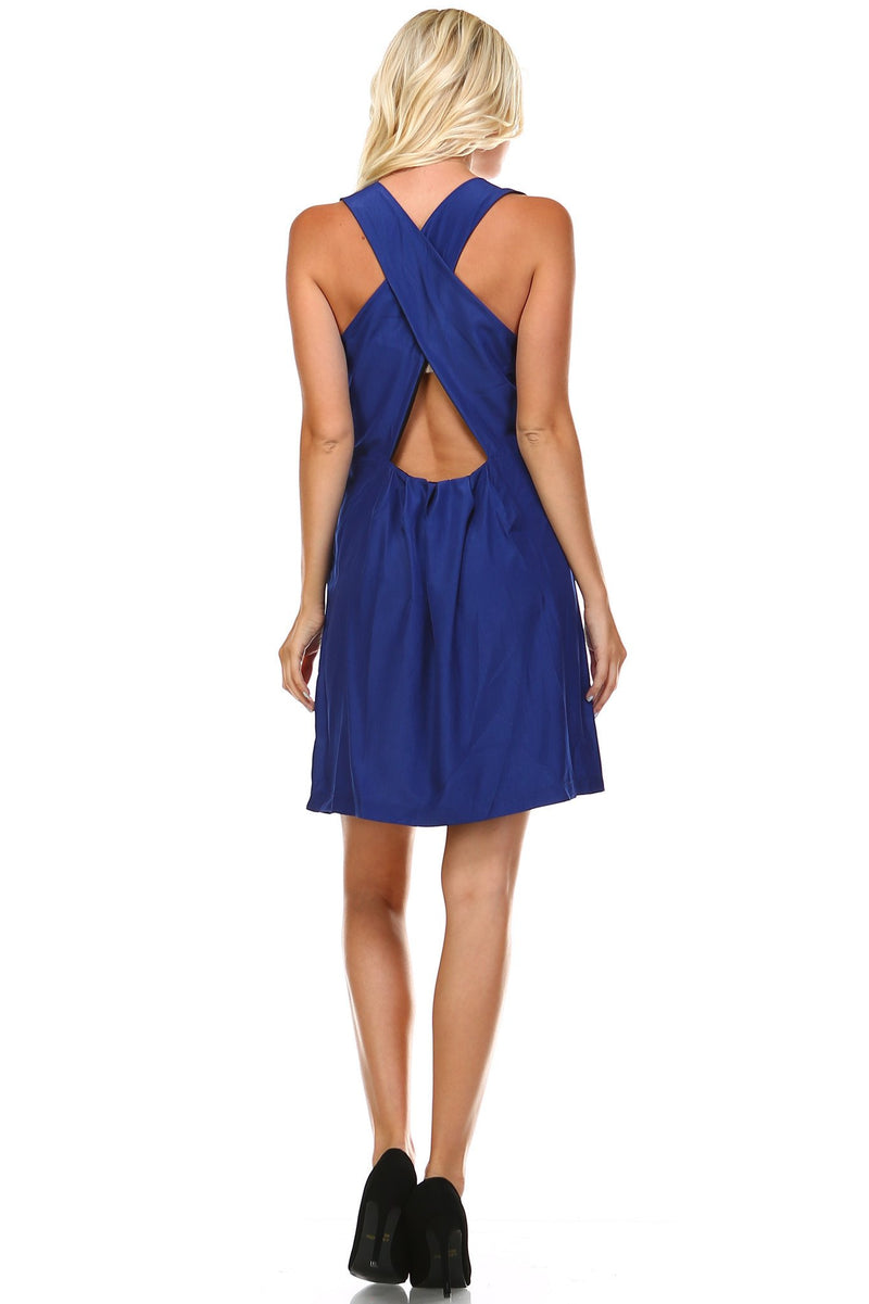 Women's Round Neck Sleeveless Dress - What's Your Chic