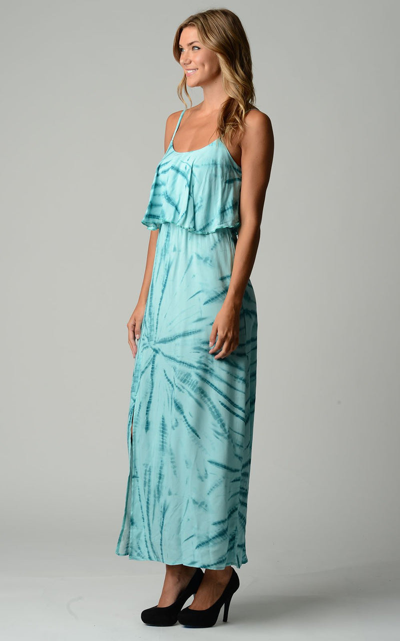 Women's Printed Tie Dye Maxi Dress - What's Your Chic