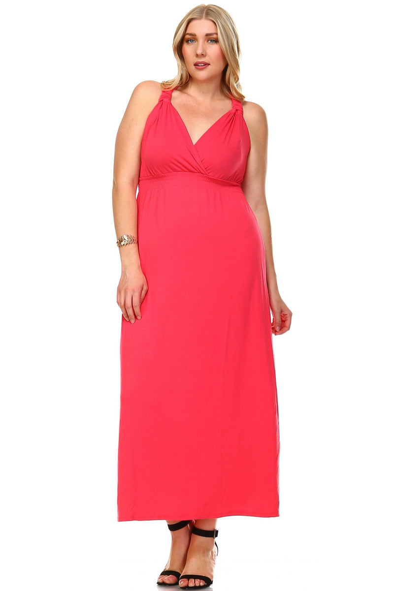 Women's Plus Size Surplice Maxi Dress - What's Your Chic