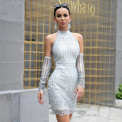"Silver ""Gem"" short dress - What's Your Chic"