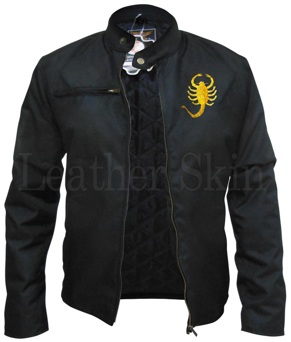 Men Scorpion Genuine Leather Jacket by Leather Skin - What's Your Chic