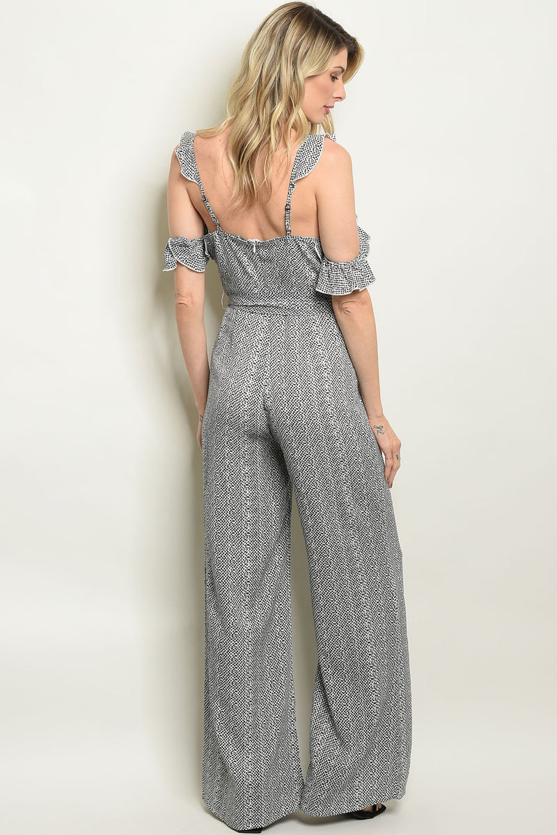 Black /Off White jumpsuit - What's Your Chic