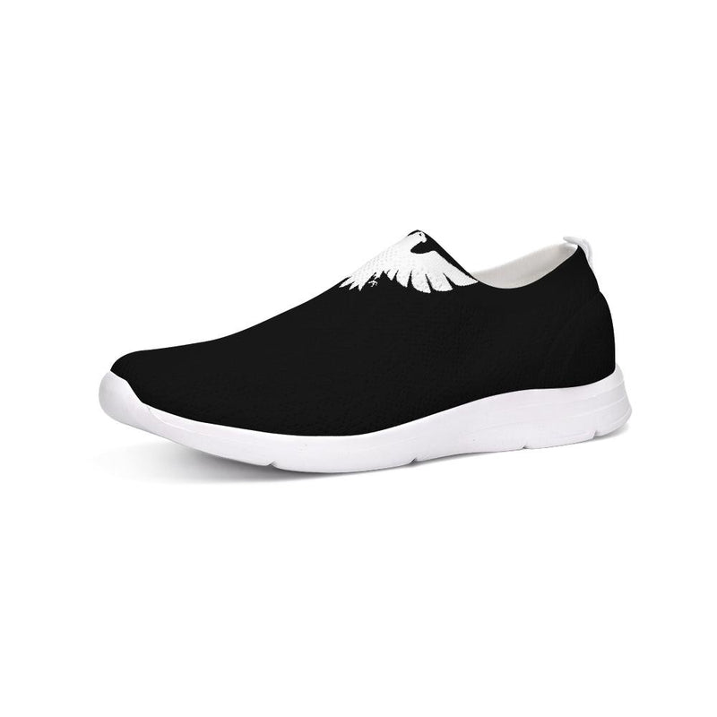 FYC Athletic Lightweight Flyknit Slip-On Shoes - black - What's Your Chic