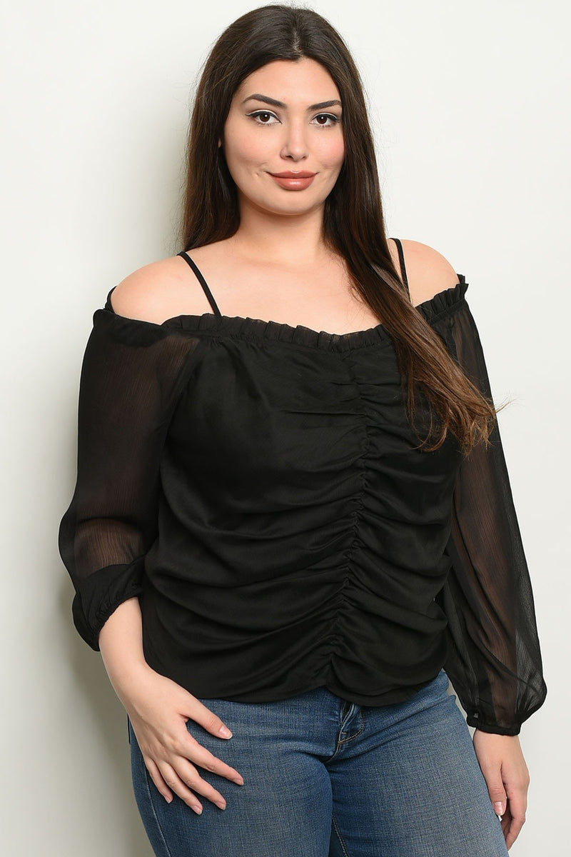 "Ruffled ""cold shoulder"" top - What's Your Chic"