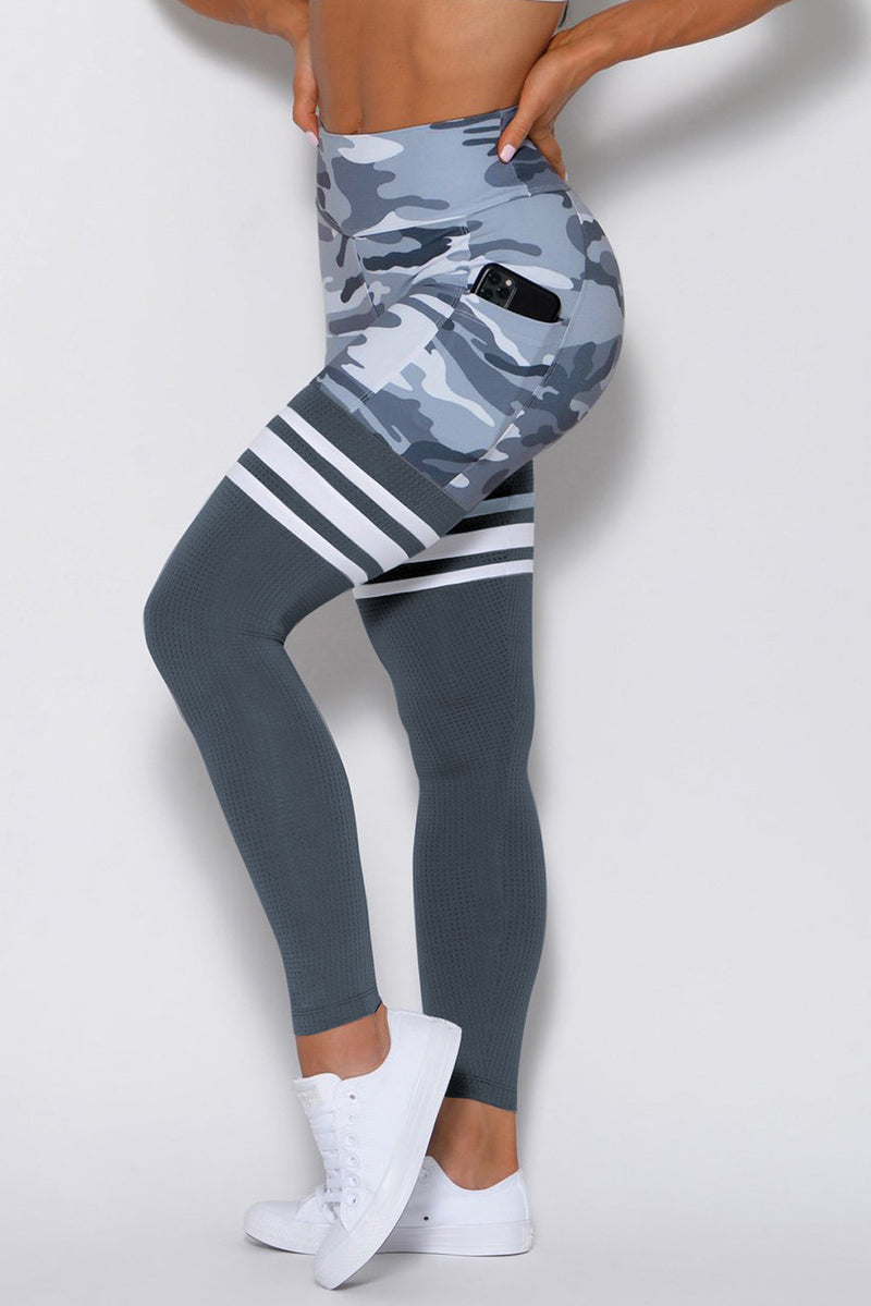Camo Print Striped Sport Pants - What's Your Chic