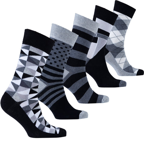Men's 5-Pair Fun Mix Socks-3038 - What's Your Chic