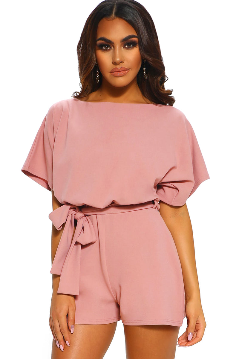 Over The Top Belted Playsuit - What's Your Chic