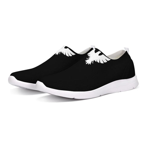 FYC Athletic Lightweight Flyknit Slip-On Shoes - black