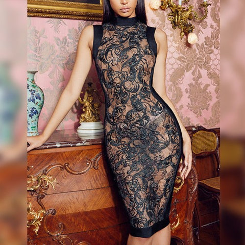 'Rally' lace bodycon