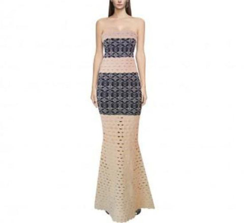 Exotic Views maxi bandage dress