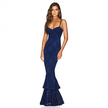 Blues of Lace bodycon maxi - What's Your Chic
