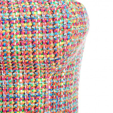 FanClub mini bodycon in rainbow - What's Your Chic