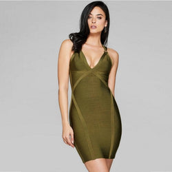 Grand Haven bandage dress in green - What's Your Chic