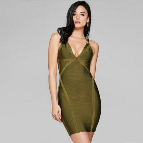 Grand Haven bandage dress in green