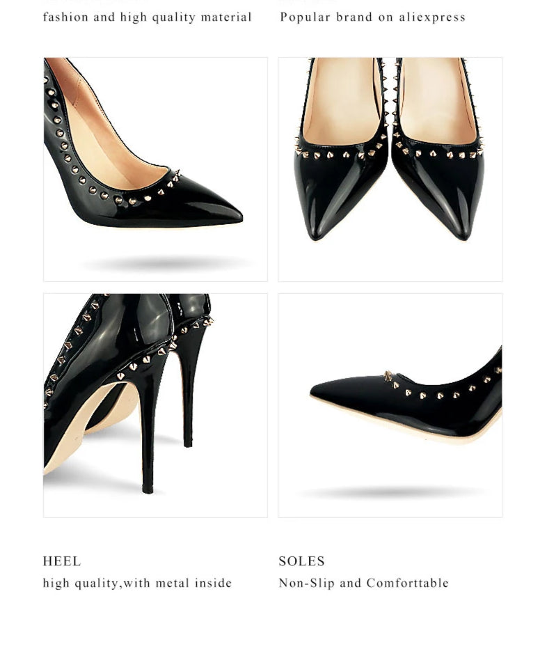 'Slightly Spiked' high heels - What's Your Chic