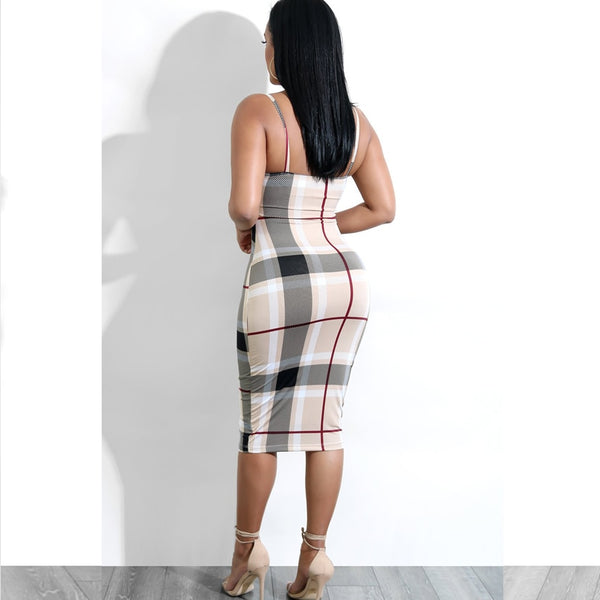 'Correction' plaid bodycon - What's Your Chic