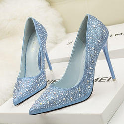 Rhinestone 'Crystals'  heels - What's Your Chic