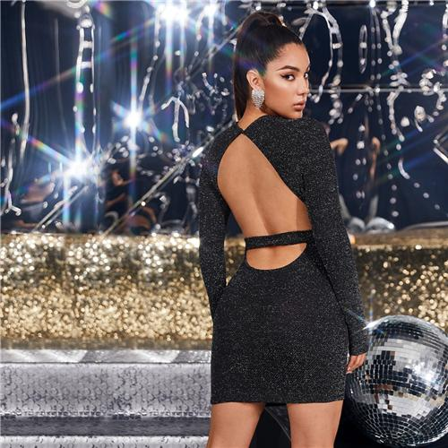 Low Back Party Mini Dress - What's Your Chic