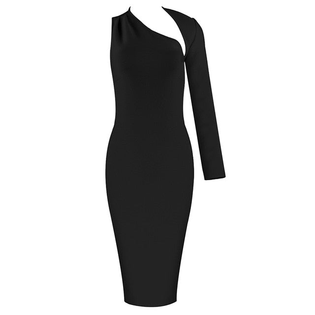 'East Wales' one shoulder bodycon - What's Your Chic