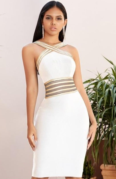 Halter Lace Bandage Dress - What's Your Chic