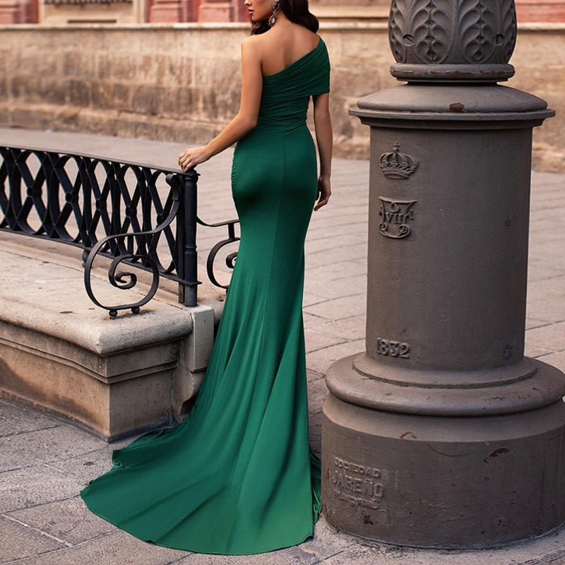'Yield' off the shoulder elegant maxi - What's Your Chic