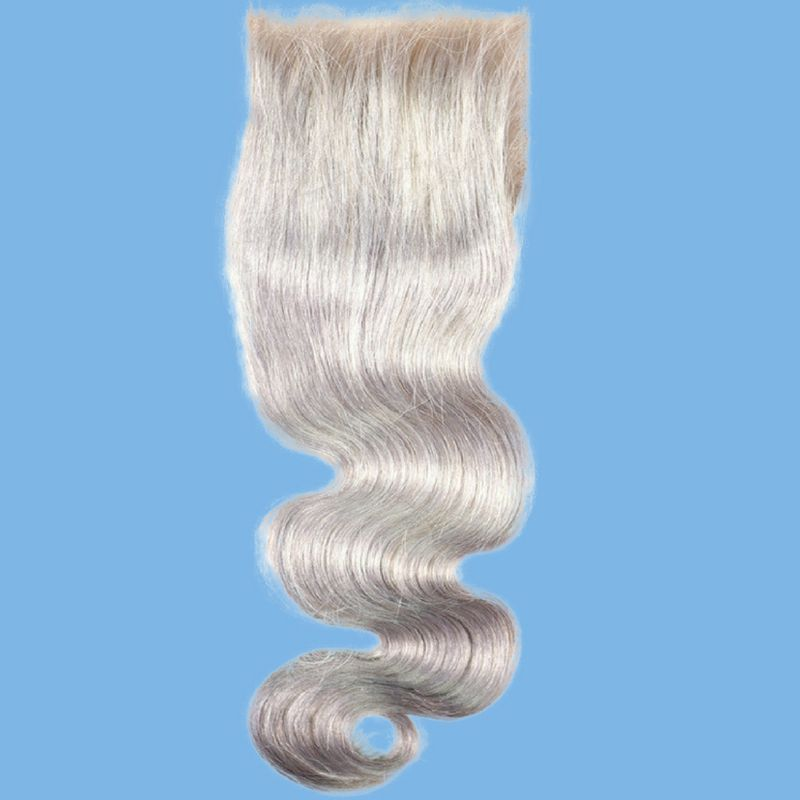 Silky Gray Body Wave Closure - What's Your Chic