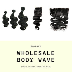 Brazilian Body Wave Short Length Wholesale Package - What's Your Chic