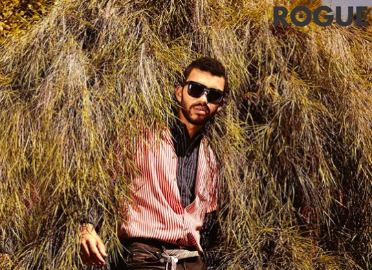 Saint Owen Sunglasses on Justice Smith in Rogue Magazine