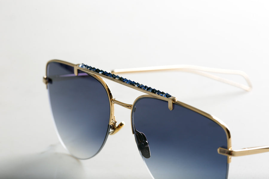 Gold NIGHTRAIN Frames, Grey Lens