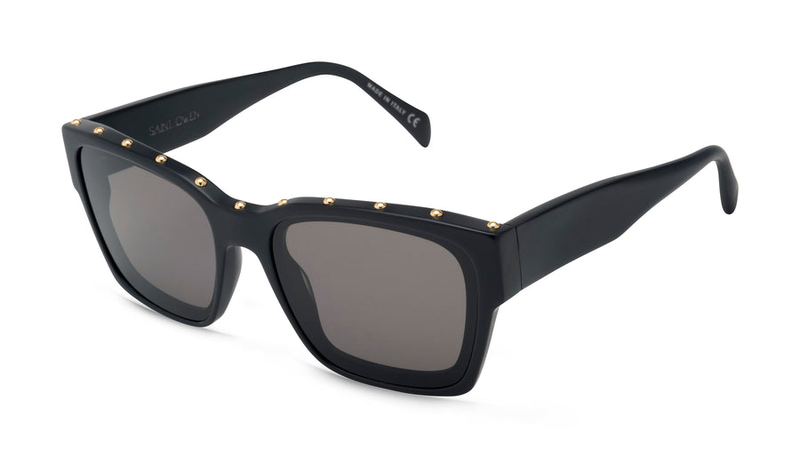Black FEELGOOD Frame, Gold Studs