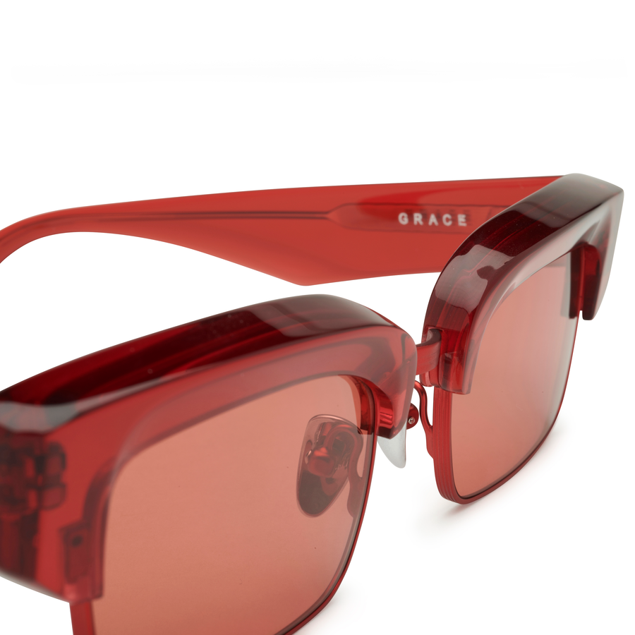 Red GRACE Frames, Red Lens