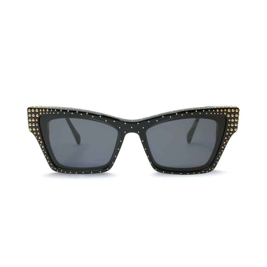 ROCKBIRD Black | Gold Studs