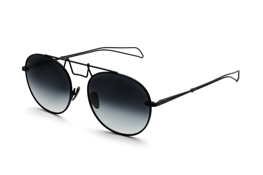 Black CROWLEY Frames, Black Lens