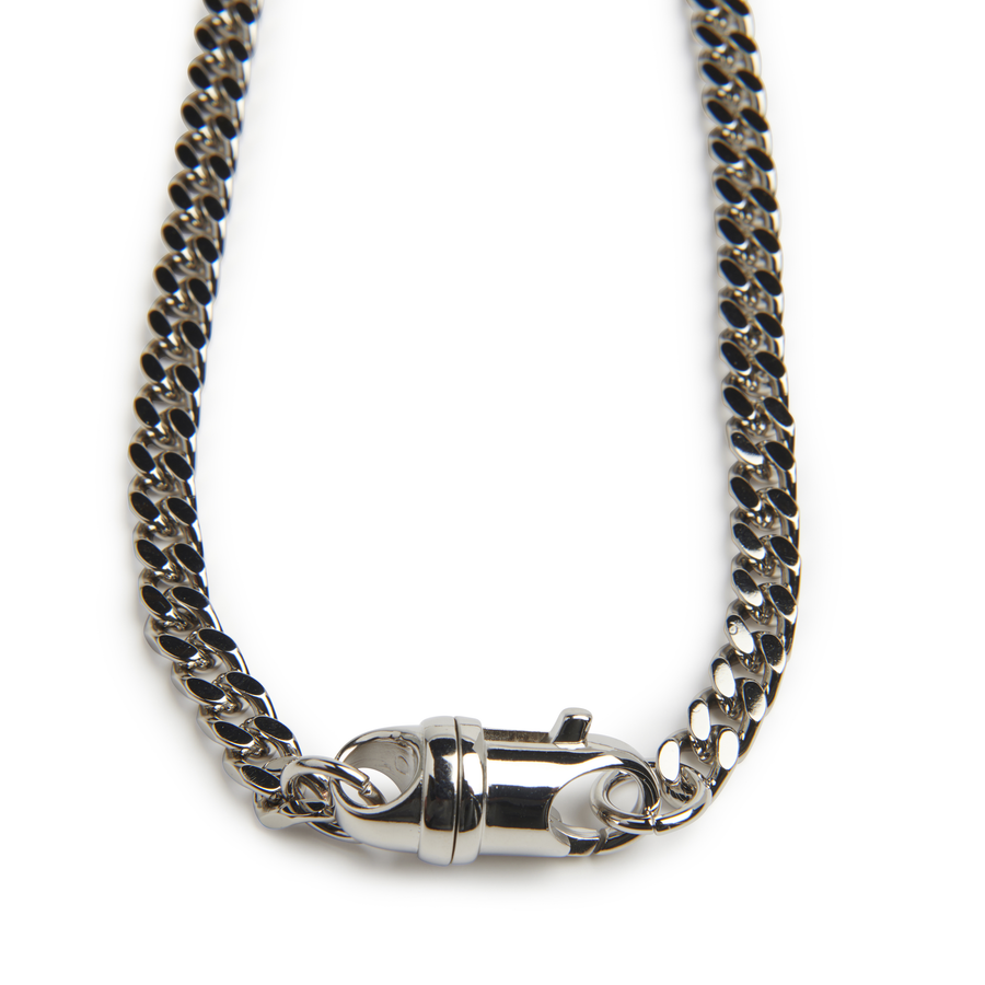SHARKTOOTH NECKLACE Black Crystals | Sterling Silver Chain