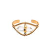 Eris Quartz Bangle Bracelet
