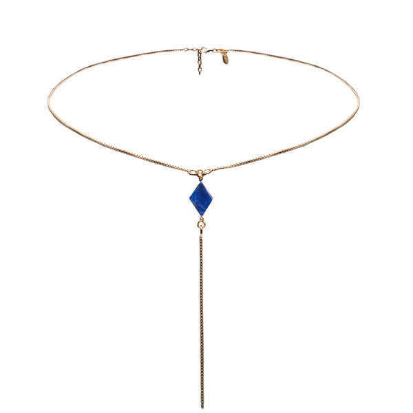 Mercy Lariat Stone Necklace
