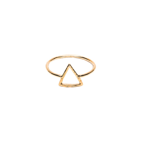 King Triangle Gold Ring