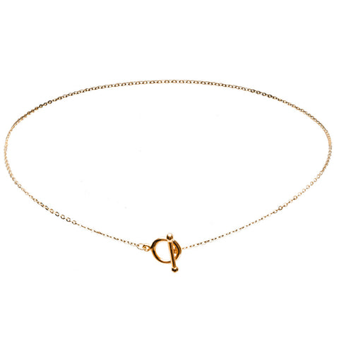Esla Toggle Gold Necklace