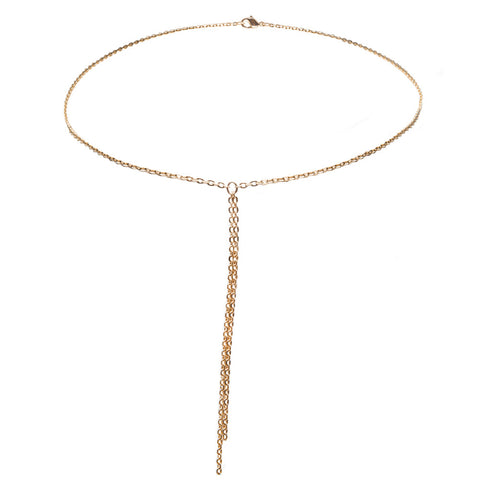 Ace Lariat Gold Necklace