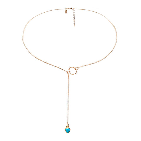 Celine Gold Lariat Necklace