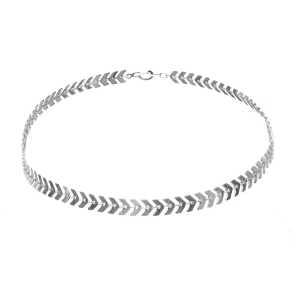 Allie Swift Silver Choker Necklace