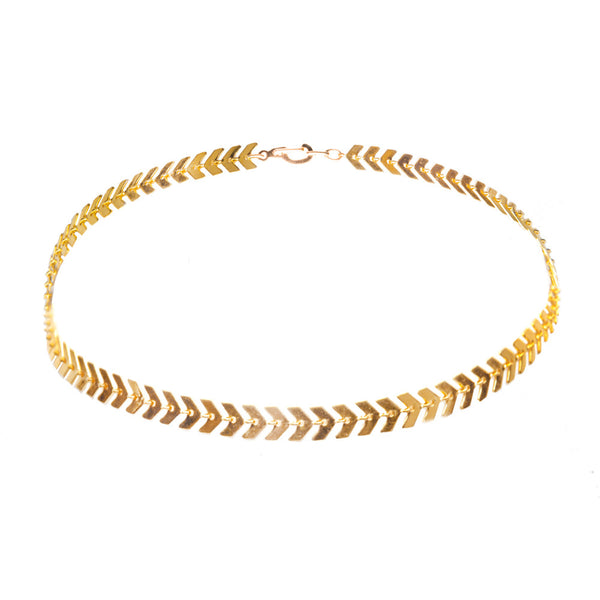 Allie Swift Gold Choker Necklace