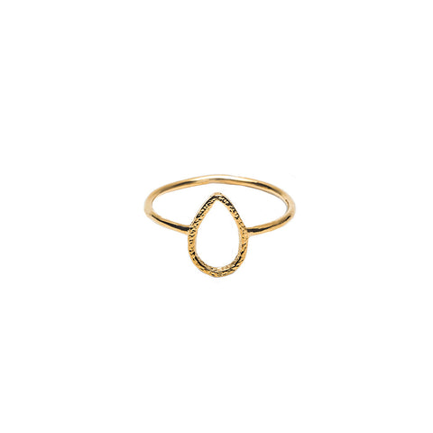 Marley Tear Drop Gold Ring