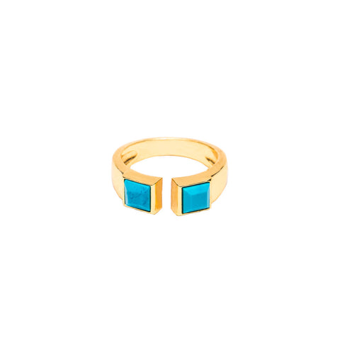June Turquoise Stone Ring
